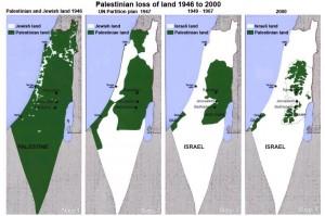 Palestine Map Big 1946-2000